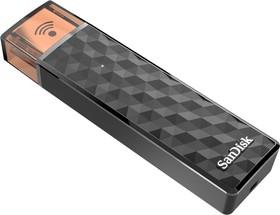 Флешка USB SANDISK Connect Wireless Stick 16Гб, USB2.0/Wi-Fi (b/g/n), черный [sdws4-016g-g46]