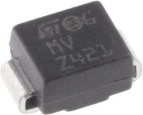 Фото 1/3 SM6T36CA, Защитный диод, двунаправленный, 36В, 600Вт [SMB]