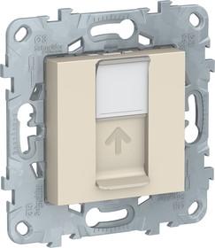 Механизм розетки компьютерная UNICA NEW RJ45 одиноч. кат.5е UTP беж. SchE NU541144