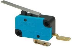 MK1KIM20, Микропереключатель 10А 250VAC с лапкой 1НЗ