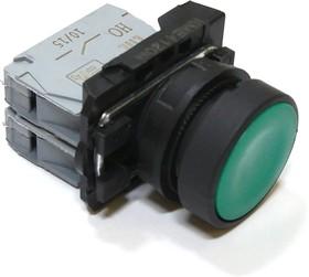 КМЕ4120м (зел.), Выключатель кнопочный зеленый без фиксации 2хOFF-(ON) 10A/660VAC