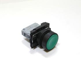 КМЕ4101м (зел.), Выключатель кнопочный зеленый без фиксации ON-(OFF) 10A/660VAC