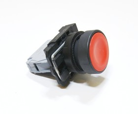 КМЕ4110м (кр.), Выключатель кнопочный красный без фиксации OFF-(ON) 10A/660VAC