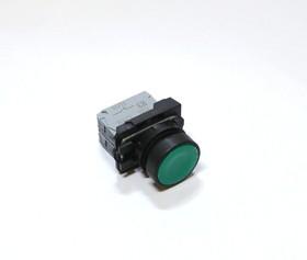 КМЕ4102м (зел.), Выключатель кнопочный зеленый без фиксации 2хON-(OFF) 10A/660VAC