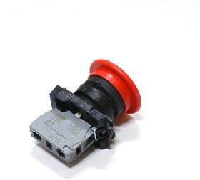 """КМЕ5101м (кр.), Выключатель кнопочный красный без фиксации """"грибок"""" ON-(OFF) 10A/660VAC"""
