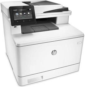 МФУ HP Color LaserJet Pro M477fnw, A4, цветной, лазерный, белый [cf377a]