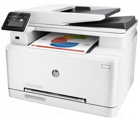 МФУ HP Color LaserJet Pro M274n, A4, цветной, лазерный, белый [m6d61a]