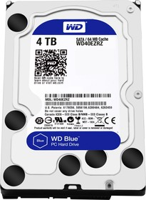 "Жесткий диск WD Blue WD40EZRZ, 4Тб, HDD, SATA III, 3.5"""