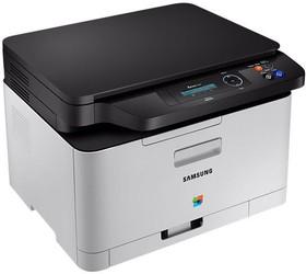 МФУ SAMSUNG SL-C480, A4, цветной, лазерный, серый [sl-c480/xev]