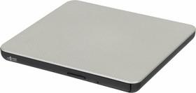 Оптический привод DVD-RW LG GP80NS60, внешний, USB, серебристый, Ret