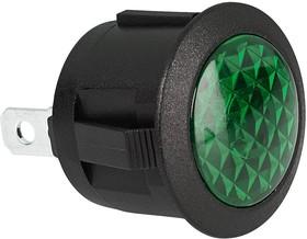MP004441, Incandescent Indicator Light, 20 mm, 12 VDC, Green, Dome