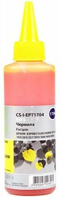 Чернила CACTUS CS-I-EPT1704, для Epson, 100мл, желтый