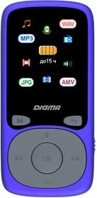 """Фото 1/9 Плеер Hi-Fi Flash Digma B4 8Gb синий/1.8""""/FM/microSDHC"""