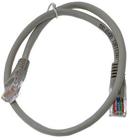 Кабель Патч-корд LANMASTER FTP, вилка RJ-45, вилка RJ-45, кат.6, ПВХ, 1м, серый [twt-45-45-1.0/s6-gy]
