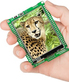 Фото 1/6 MIKROE-1102, mikromedia for STM32 M4, Отладочная плата на основе STM32F407VGT6 с TFT Touch Screen дисплеем 320 х 240 px