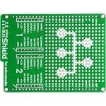 MIKROE-1154, mikroBUS Shield for mikromedia, Плата раширения для mikromedia bord с макетной областью и 2 разъема mikroBUS