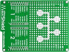 Фото 1/5 MIKROE-1154, mikroBUS Shield for mikromedia, Плата раширения для mikromedia bord с макетной областью и 2 разъема mikroBUS