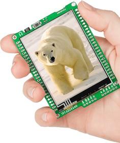 Фото 1/6 MIKROE-1160, mikromedia for PIC24EP, Отладочная плата на основе PIC24EP512GU810 с TFT Touch Screen дисплеем 320 х 240 px