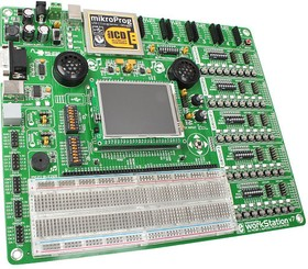 Фото 1/6 MIKROE-1189, mikromedia workStation v7, Лабораторный стенд обеспечивающий полную среду разработки для mikromedia bord