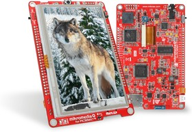 """Фото 1/3 MIKROE-1399, mikromedia Plus for PIC32MX7, Отладочная плата на основе PIC32MX795F512L с TFT Touch Screen дисплеем 4.3"""" (480 х 272 px)"""