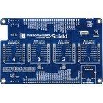 Фото 4/6 MIKROE-1417, mikromedia Plus for STM32 Shield, Плата раширения для mikromedia Plus for STM32 c 4 разъемами mikroBUS, CAN и Ethernet интерфе