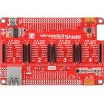MIKROE-1437, mikromedia Plus for PIC32MX7 Shield, Плата раширения для mikromedia Plus for PIC32MX7 c 4 разъемами mikroBUS, CAN и Ethernet и