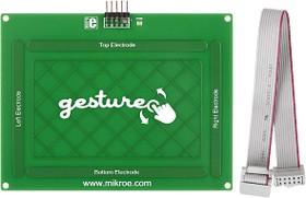 Фото 1/5 MIKROE-1723, Gesture board, Встраиваемая панель распознавания жестов на основе контроллера MGC3130