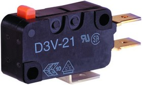 D3V-161M-1C5, SWITCH,SHORT LEVER,SPDT,QC,200GF,16A