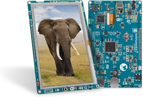 """Фото 1/2 MIKROE-1841, mikromedia 7 for STM32F4, Отладочная плата на основе STM32F407ZG с TFT Touch Screen дисплеем 7"""" (800 х 480 px)"""
