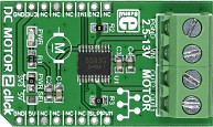 Фото 1/5 MIKROE-1911, DC MOTOR 2 click, Драйвер управления двигателем на основе чипа TB6593FNG, форм-фактор mikroBUS