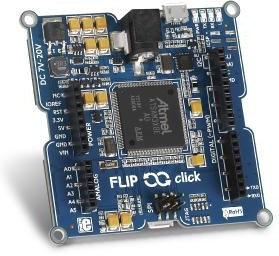 Фото 1/4 MIKROE-1984, Flip & click, Программируемая плата на основе МК AT91SAM3X8E совсместимая с шилдами Arduino/mikroBUS