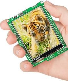 Фото 1/5 MIKROE-597, mikromedia for PIC32, Отладочная плата на основе PIC32MX460F512L с TFT Touch Screen дисплеем 320 х 240 px