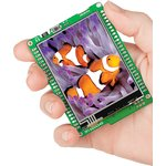MIKROE-755, mikromedia for XMEGA, Отладочная плата на основе ATxmega128A1 с TFT Touch Screen дисплеем 320 х 240 px