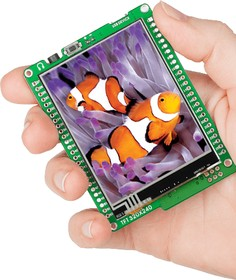 Фото 1/6 MIKROE-755, mikromedia for XMEGA, Отладочная плата на основе ATxmega128A1 с TFT Touch Screen дисплеем 320 х 240 px