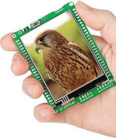 Фото 1/7 MIKROE-607, mikromedia for PIC18FJ, Отладочная плата на основе PIC18F87J50 с TFT Touch Screen дисплеем 320 х 240 px