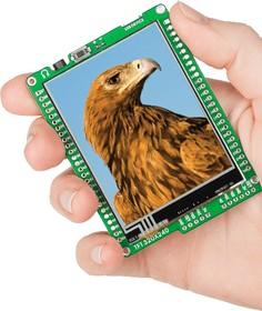 Фото 1/6 MIKROE-608, mikromedia for PIC24, Отладочная плата на основе PIC24FJ256GB110 с TFT Touch Screen дисплеем 320 х 240 px