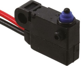 D2HW-C203MR, Switch Snap Action N.O. SPST Pin Plunger Wire Lead 2A 125VAC 42VDC 0.75N Screw Mount