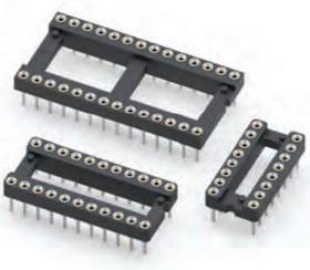 110-93-316-41-605000, Conn DIP Socket SKT 16 POS 2.54mm Solder ST Thru-Hole Tube