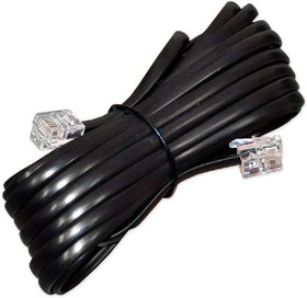 PL1207, Удлинитель телефонный 7м, черный