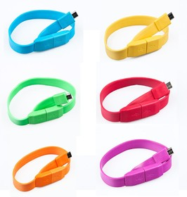 """Фото 1/2 PL1320(PL1321, PL1322,PL1323, PL1324,PL1325,PL1326), Кабель USB2.0 A вилка - Micro USB, """"браслет"""", 0.25м, цветной"""