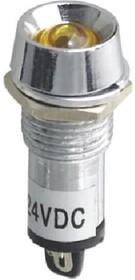 XD12-2-Y-24VDC, Светодиод с держателем желтый 12мм 24VDC