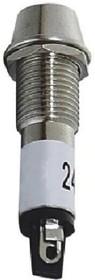 XD8-1-R-1,5-1,7VDC, Светодиод с держателем красный 8мм 1,5-1,7VDC