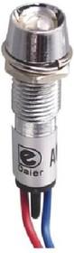 N-XD8-1W-G, Лампа неоновая с держателем зеленая 220VAC