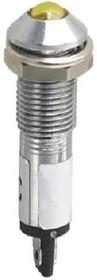 XD8-2-Y-12VDC, Светодиод с держателем желтый 8мм 12VDC