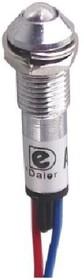 N-XD8-2W-Y, Лампа неоновая с держателем желтая 220VAC