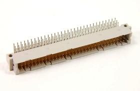 DIN41612 (DS1120-96M-R13), Вилка 32х3 ряд А-В-C угловая 90°