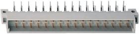 DIN41612R (DS1118-32M-R23), Вилка 16х2 ряд А-В угловая 90°