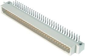 DIN41612R (DS1118-64M-R23), Вилка 32х2 ряд А-В угловая 90°