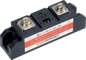 HHG1A-1/032-60A, Реле 3-32VDC, 60A/440VAC (zero-cross)