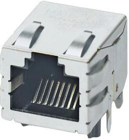 Фото 1/2 1099280, Модульный разъем, RJ45 Jack, 1 x 1 (Port), 8P8C, Cat6a, IP20, Монтаж в Сквозное Отверстие